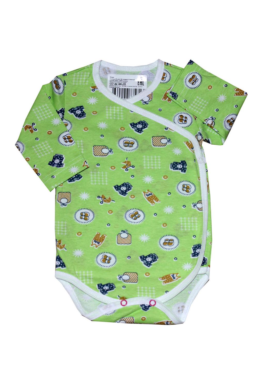БодиКофточки<br>Хлопковое боди для новорожденного  В изделии использованы цвета: зеленый и др.  Размер соответствует росту ребенка.<br><br>По сезону: Всесезон<br>Размер : 62,74<br>Материал: Хлопок<br>Количество в наличии: 2