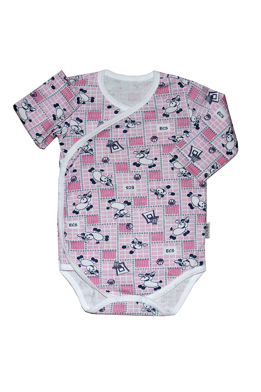 БодиКофточки<br>Хлопковое боди для новорожденного  В изделии использованы цвета: розовый, белый, черный  Размер соответствует росту ребенка.<br><br>По сезону: Всесезон<br>Размер : 62,68,74<br>Материал: Хлопок<br>Количество в наличии: 3