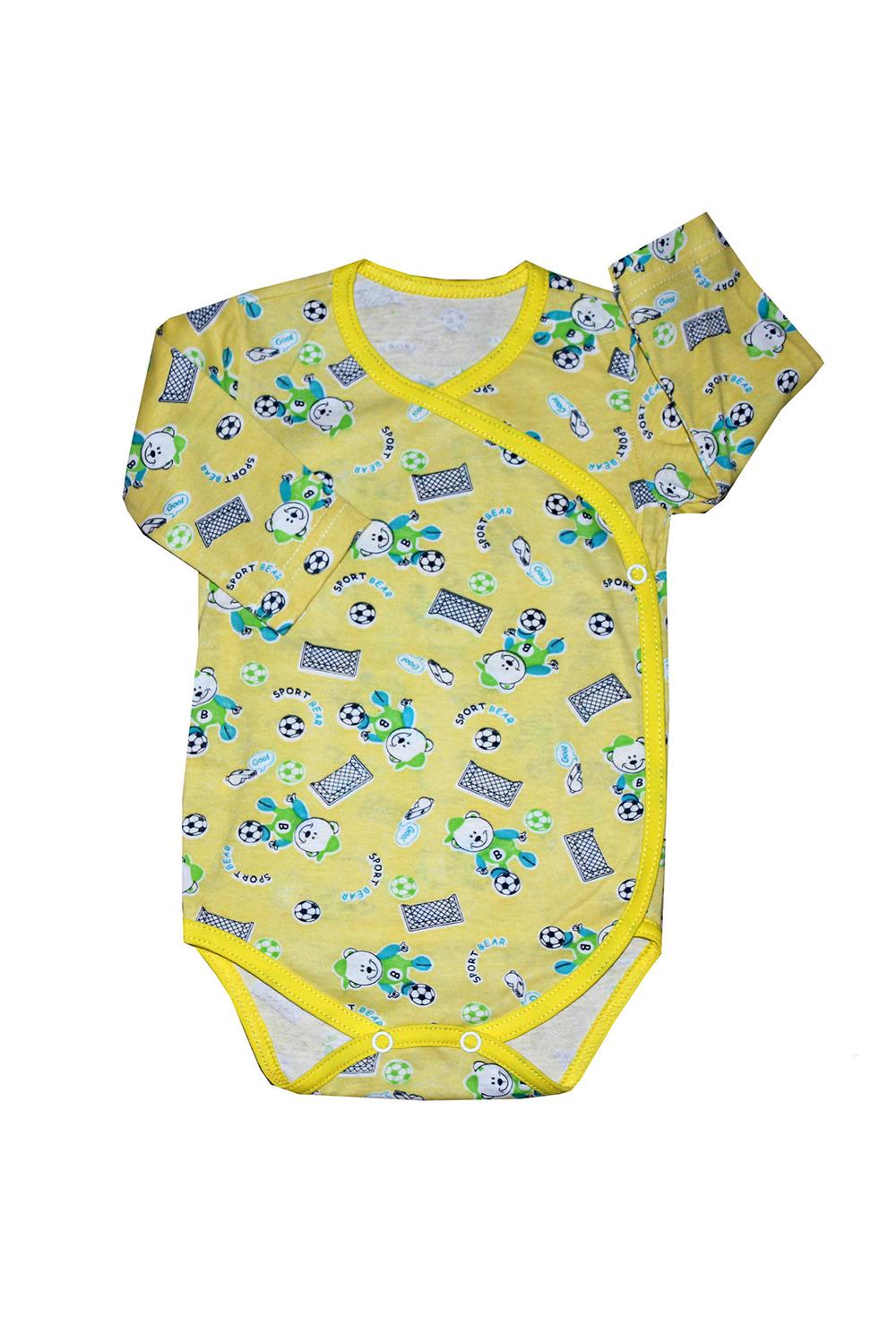 БодиКофточки<br>Хлопковое боди для новорожденного  В изделии использованы цвета: желтый и др.  Размер соответствует росту ребенка.<br><br>По сезону: Всесезон<br>Размер : 62,74<br>Материал: Хлопок<br>Количество в наличии: 2