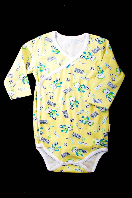 БодиКофточки<br>Хлопковое боди для новорожденного  В изделии использованы цвета: желтый и др.  Размер соответствует росту ребенка.<br><br>По сезону: Всесезон<br>Размер : 68<br>Материал: Хлопок<br>Количество в наличии: 1