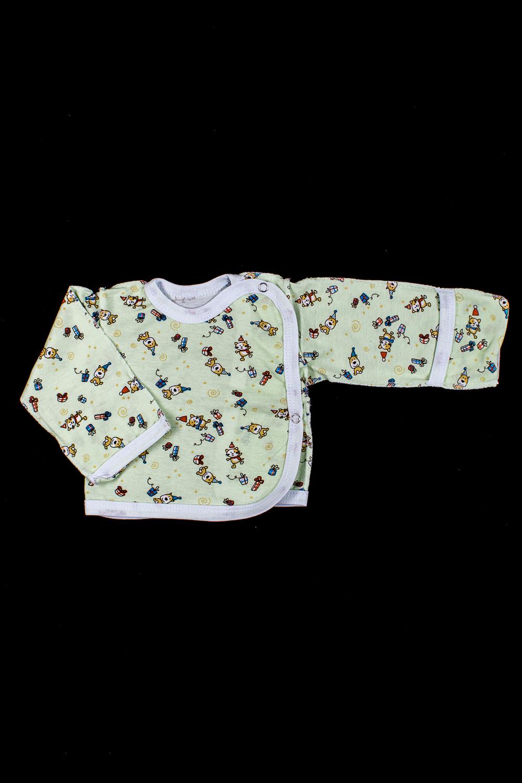 КофточкаКофточки<br>Хлопковая кофточка для новорожденного  В изделии использованы цвета: зеленый и др.  Размер соответствует росту ребенка<br><br>По сезону: Всесезон<br>Размер : 56,62<br>Материал: Хлопок<br>Количество в наличии: 2