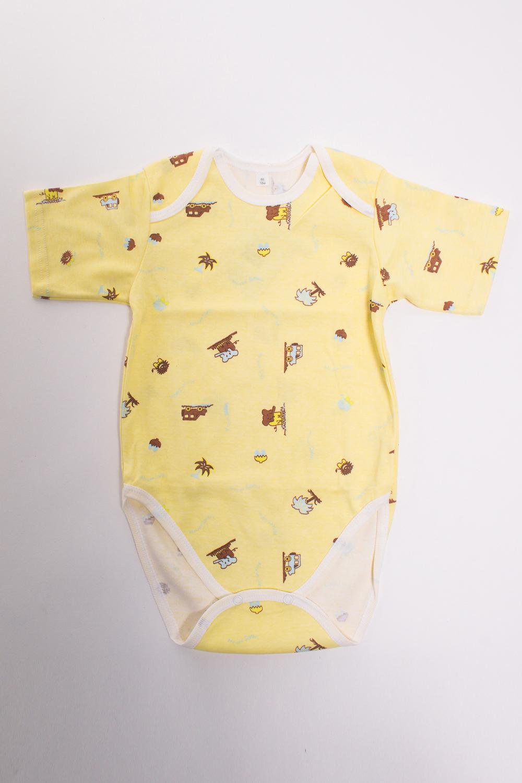 БодиКофточки<br>Хлопковое боди для новорожденного  Цвет: желтый, коричневый  Размер соответствует росту ребенка<br><br>Размер : 56,68,74,80,86<br>Материал: Хлопок<br>Количество в наличии: 5