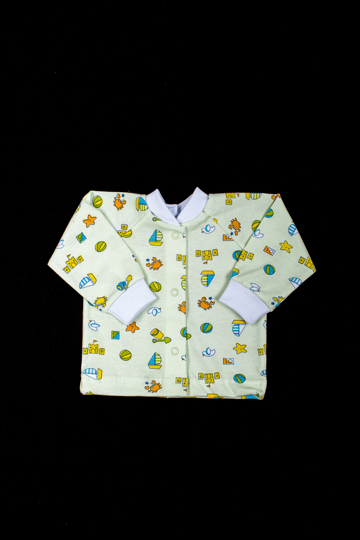 КофточкаКофточки<br>Хлопковая кофточка для новорожденного  В изделии использованы цвета: зеленый и др.  Размер соответствует росту ребенка<br><br>По возрасту: Ясельные ( от 1 до 3 лет)<br>По материалу: Хлопок<br>По образу: Повседневные<br>По рисунку: С принтом (печатью),Цветные<br>По сезону: Весна,Осень,Всесезон<br>По силуэту: Полуприталенные<br>По стилю: Повседневные<br>Рукав: Длинный рукав,С манжетами<br>Размер : 56,62,68,74,80,86<br>Материал: Хлопок<br>Количество в наличии: 6