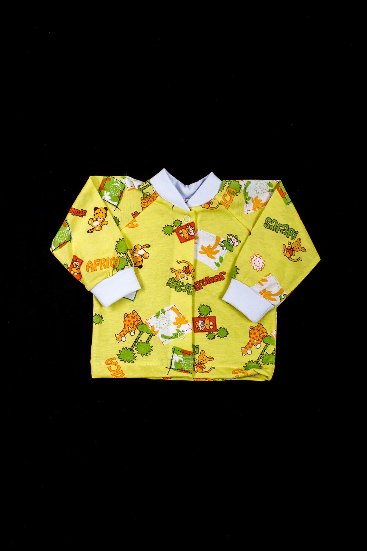 КофточкаКофточки<br>Хлопковая кофточка для новорожденного  В изделии использованы цвета: желтый и др.  Размер соответствует росту ребенка<br><br>По возрасту: Ясельные ( от 1 до 3 лет)<br>По материалу: Хлопок<br>По образу: Повседневные<br>По рисунку: С принтом (печатью),Цветные<br>По сезону: Весна,Осень,Всесезон<br>По силуэту: Полуприталенные<br>По стилю: Повседневные<br>Рукав: Длинный рукав,С манжетами<br>Размер : 56,62,68,74,80<br>Материал: Хлопок<br>Количество в наличии: 5