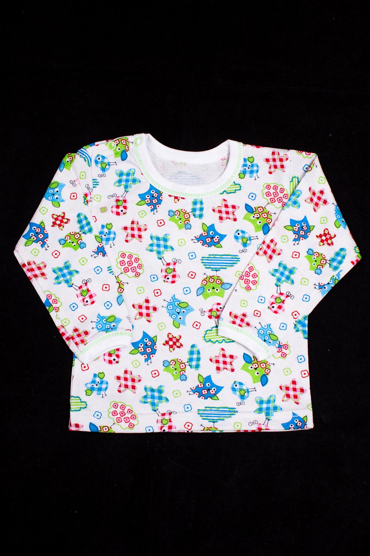 ФутболкаКофточки<br>Повседневная хлопковая футболка с длинным рукавом. Изделие с округлой горловиной.  В изделии использованы цвета: белый, розовый, голубой.  Размер соответствует росту ребенка.<br><br>Горловина: С- горловина<br>По возрасту: Ясельные ( от 1 до 3 лет)<br>По материалу: Хлопок<br>По образу: Повседневные<br>По рисунку: С принтом (печатью),Цветные<br>По сезону: Весна,Осень,Всесезон<br>По силуэту: Полуприталенные<br>По стилю: Повседневные<br>Рукав: Длинный рукав<br>Размер : 68,74,80,86<br>Материал: Хлопок<br>Количество в наличии: 8
