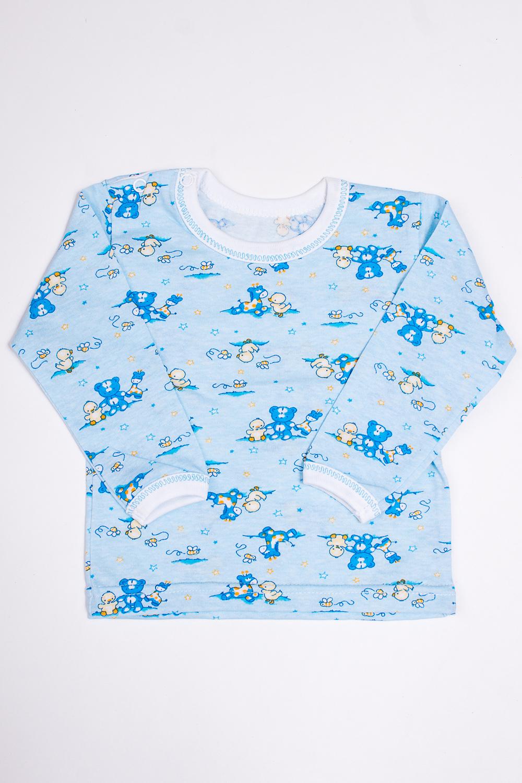 ФутболкаКофточки<br>Повседневная хлопковая футболка с длинным рукавом. Изделие с округлой горловиной.  Цвет: голубой.  Размер соответствует росту ребенка.<br><br>Горловина: С- горловина<br>По возрасту: Ясельные ( от 1 до 3 лет)<br>По материалу: Хлопок<br>По образу: Повседневные<br>По рисунку: С принтом (печатью),Цветные<br>По сезону: Весна,Осень,Всесезон<br>По силуэту: Полуприталенные<br>По стилю: Повседневные<br>Рукав: Длинный рукав<br>Размер : 68,74,80,86<br>Материал: Хлопок<br>Количество в наличии: 7