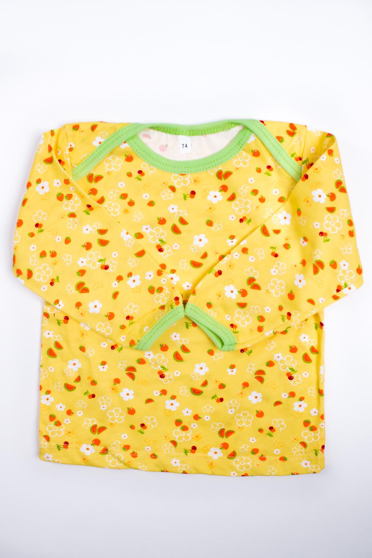 КофточкаКофты<br>Хлопковая кофточка для ребенка  Цвет: желтый, мультицвет  Размер соответствует росту ребенка<br><br>Горловина: С- горловина<br>По материалу: Трикотажные,Хлопковые<br>По образу: Повседневные<br>По рисунку: С принтом (печатью),Цветные<br>По сезону: Весна,Осень,Всесезон<br>По силуэту: Полуприталенные<br>Рукав: Длинный рукав<br>По возрасту: Ясельные ( от 1 до 3 лет)<br>Размер : 74<br>Материал: Хлопок<br>Количество в наличии: 1