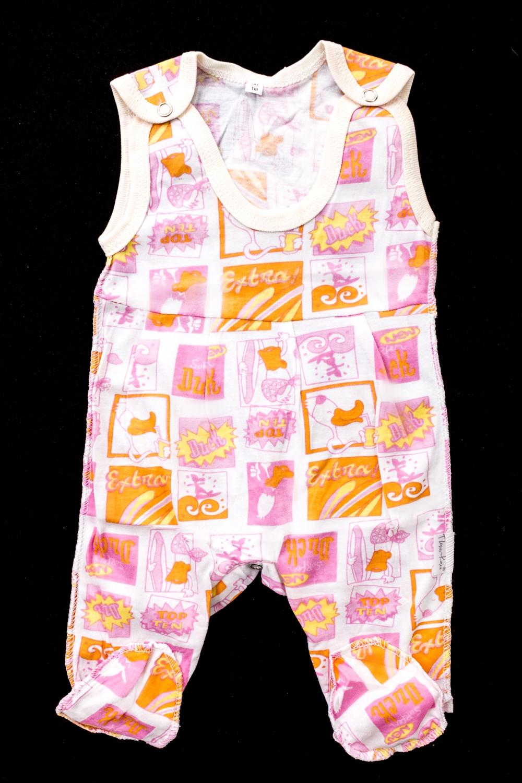 ПолукомбинезонКомбинезончики<br>Хлопковый комбинезон для новорожденного  В изделии использованы цвета: белый, оранжевый, розовый  Размер соответствует росту ребенка<br><br>По сезону: Всесезон<br>Размер : 56,62,74,80<br>Материал: Хлопок<br>Количество в наличии: 12