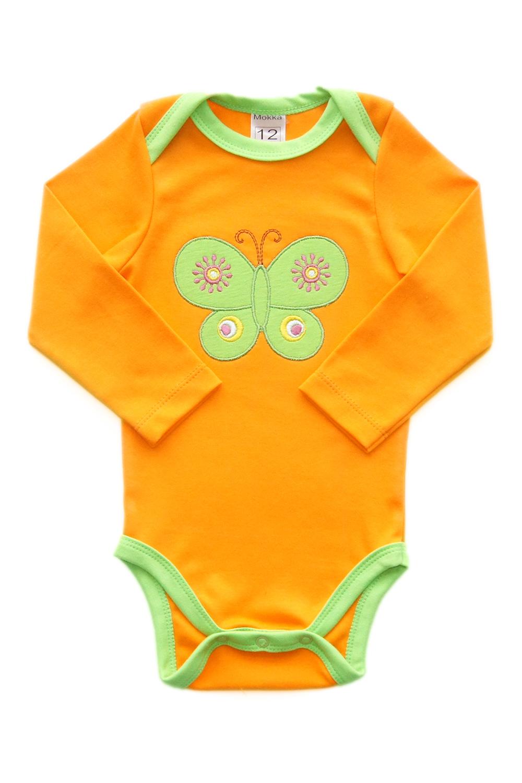БодиКофточки<br>Хлопковое боди с вышивкой для новорожденного  В изделии использованы цвета: оранжевый, зеленый и др.  Размер 56 соответствует росту 51-56 см Размер 62 соответствует росту 57-62 см Размер 68 соответствует росту 63-68 см Размер 74 соответствует росту 70-73 см Размер 80 соответствует росту 74-80 см<br><br>По сезону: Всесезон<br>Размер : 56,62,74,80<br>Материал: Хлопок<br>Количество в наличии: 4