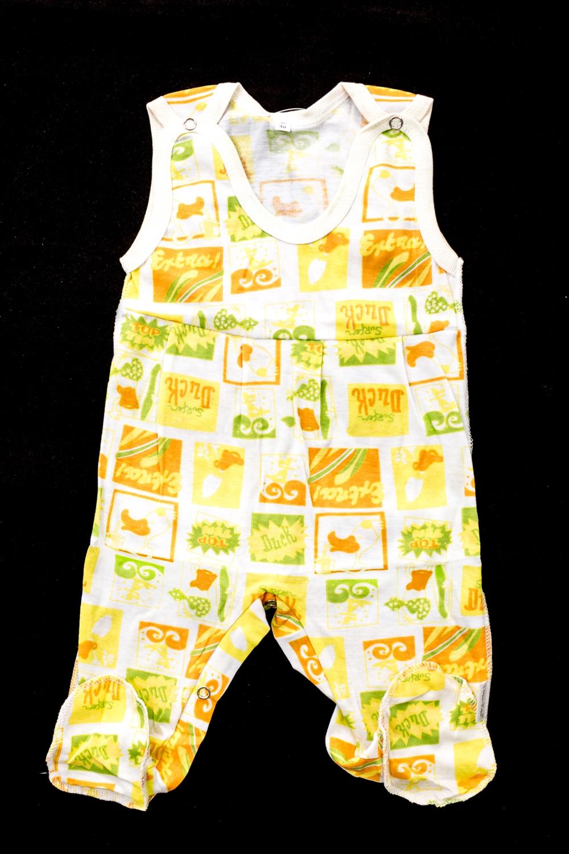 ПолукомбинезонКомбинезончики<br>Хлопковый комбинезон для новорожденного  В изделии использованы цвета: белый, оранжевый, желтый, зеленый  Размер соответствует росту ребенка<br><br>По сезону: Всесезон<br>Размер : 62,68,74,80<br>Материал: Хлопок<br>Количество в наличии: 12
