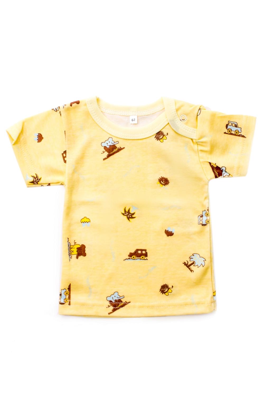 ФутболкаКофточки<br>Хлопковая кофточка для ребенка.  В изделии использованы цвета: желтый и др.  Размер соответствует росту ребенка<br><br>По сезону: Всесезон<br>Размер : 62<br>Материал: Хлопок<br>Количество в наличии: 4