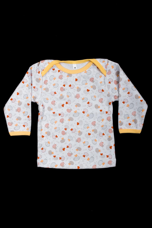 КофточкаКофты<br>Хлопковая кофточка для ребенка  Цвет: серый, желтый и др.  Размер соответствует росту ребенка<br><br>По материалу: Трикотажные,Хлопковые<br>По образу: Повседневные<br>По рисунку: С принтом (печатью),Цветные<br>По сезону: Весна,Зима,Лето,Осень,Всесезон<br>По возрасту: Ясельные ( от 1 до 3 лет)<br>Размер : 68,74,80,86<br>Материал: Трикотаж<br>Количество в наличии: 7