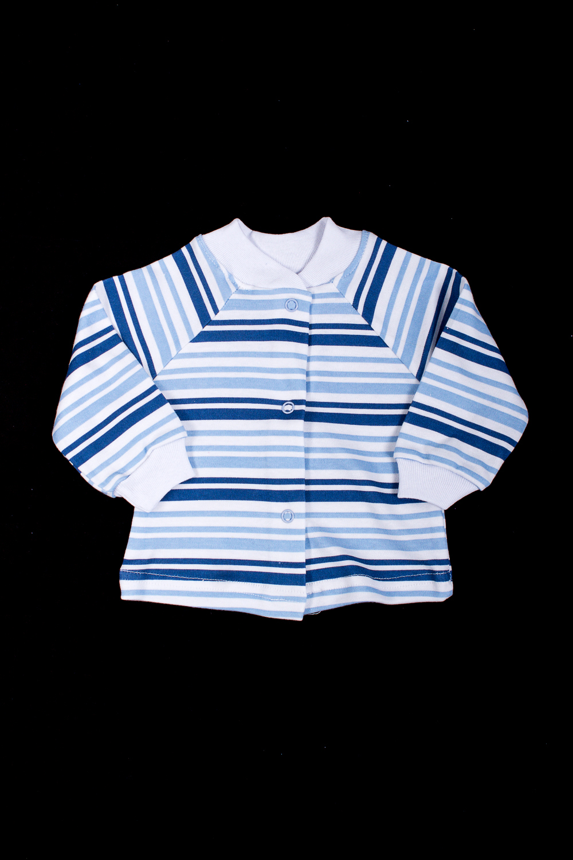 КофточкаКофточки<br>Хлопковая кофточка для новорожденного  В изделии использованы цвета: синий, голубой, белый  Размер соответствует росту ребенка<br><br>По сезону: Всесезон<br>Размер : 56<br>Материал: Хлопок<br>Количество в наличии: 1