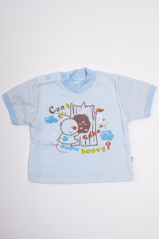 ФутболкаКофточки<br>Хлопковая футболка для новорожденного.  Цвет: голубой и др.  Размер соответствует росту ребенка<br><br>По сезону: Всесезон<br>Размер : 62<br>Материал: Хлопок<br>Количество в наличии: 2