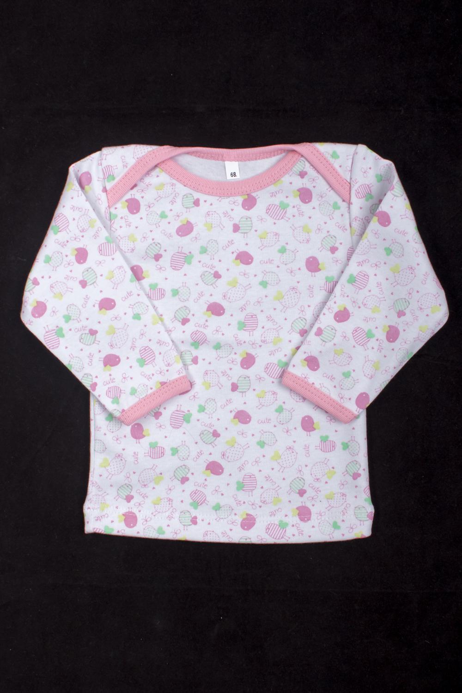 КофточкаКофты<br>Хлопковая кофточка для ребенка  Цвет: белый, розовый и др.  Размер соответствует росту ребенка<br><br>По материалу: Трикотажные,Хлопковые<br>По образу: Повседневные<br>По рисунку: С принтом (печатью),Цветные<br>По сезону: Весна,Зима,Лето,Осень,Всесезон<br>По возрасту: Ясельные ( от 1 до 3 лет)<br>Размер : 68<br>Материал: Трикотаж<br>Количество в наличии: 2