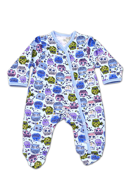 КомбинезонКомбинезончики<br>Хлопковый комбинезон с забавным принтом  В изделии использованы цвета: синий и др.  Размер соответствует росту ребенка<br><br>По сезону: Осень,Весна<br>Размер : 56,62,68,74<br>Материал: Трикотаж<br>Количество в наличии: 8