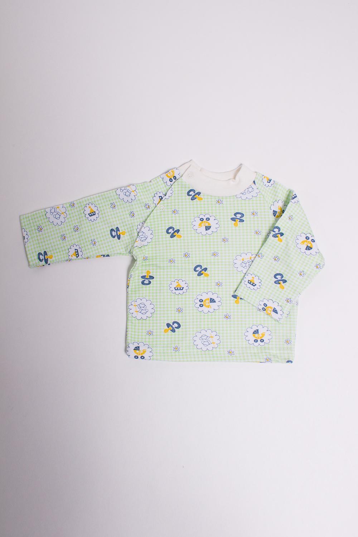 КофточкаКофточки<br>Хлопковая кофточка для новорожденного  Цвет: светло-зеленый, мультицвет  Размер соответствует росту ребенка<br><br>Размер : 62<br>Материал: Трикотаж<br>Количество в наличии: 4