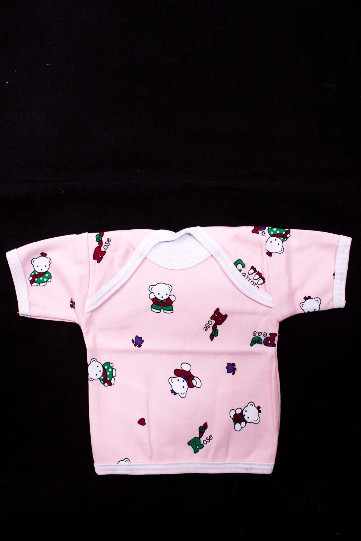 ФутболкаКофточки<br>Хлопковое боди для новорожденного.  В изделии использованы цвета: розовый и др.  Размер соответствует росту ребенка<br><br>По сезону: Всесезон<br>Размер : 62,68,74,80<br>Материал: Трикотаж<br>Количество в наличии: 4
