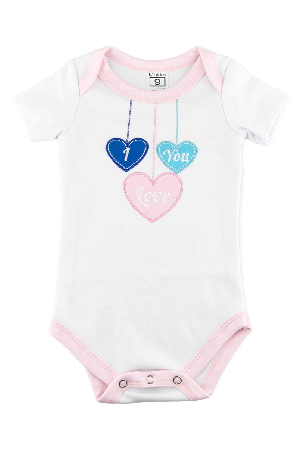 БодиКофточки<br>Хлопковое боди с вышивкой для новорожденного  В изделии использованы цвета: белый, розовый и др.<br><br>По сезону: Всесезон<br>Размер : 56,62,68,74,80,86<br>Материал: Хлопок<br>Количество в наличии: 33