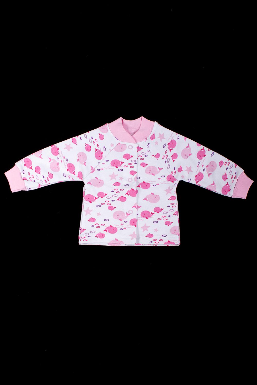 КофточкаКофточки<br>Хлопковая кофточка для новорожденного  В изделии использованы цвета: розовый, белый  Размер соответствует росту ребенка<br><br>Воротник: Стойка<br>По возрасту: Ясельные ( от 1 до 3 лет)<br>По материалу: Хлопковые<br>По образу: Повседневные<br>По рисунку: С принтом (печатью),Цветные<br>По сезону: Весна,Зима,Лето,Осень,Всесезон<br>По силуэту: Полуприталенные<br>По элементам: С кнопками<br>Рукав: Длинный рукав,С манжетами<br>Размер : 56,62,68,74<br>Материал: Хлопок<br>Количество в наличии: 4