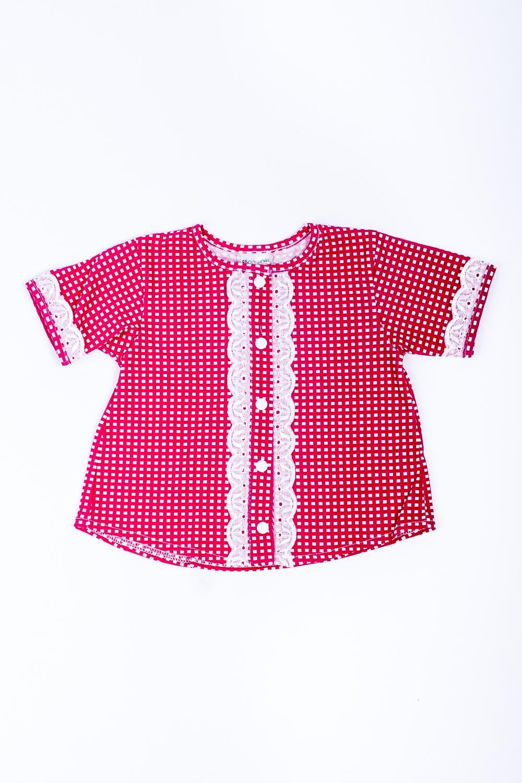 РубашкаРубашки<br>Трикотажная рубашка для девочки.   В изделии использованы цвета: красный, белый   Размер соответствует росту ребенка<br><br>Горловина: С- горловина<br>По материалу: Трикотажные,Хлопковые<br>По образу: Повседневные<br>По рисунку: С принтом (печатью),Цветные<br>По сезону: Весна,Зима,Лето,Осень,Всесезон<br>По силуэту: Полуприталенные<br>По стилю: Повседневные<br>Рукав: Короткий рукав<br>По возрасту: Ясельные ( от 1 до 3 лет)<br>Размер : 68,74,80,86,92,98<br>Материал: Трикотаж<br>Количество в наличии: 9
