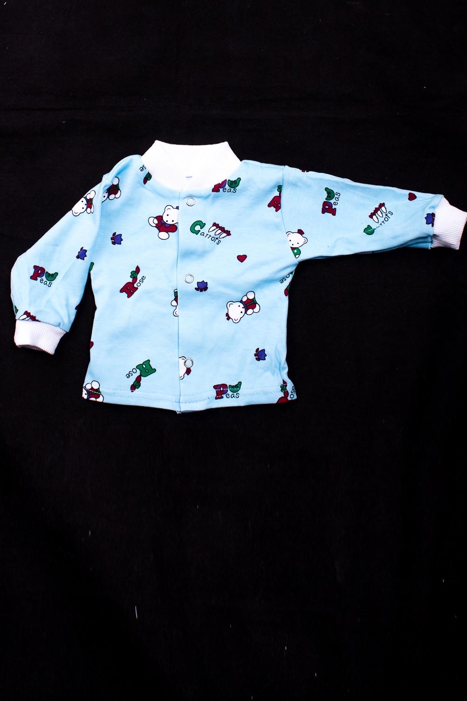РубашкаКофточки<br>Трикотажная рубашка на кнопках  В изделии использованы цвета: голубой и др.  Размер соответствует росту ребенка<br><br>По сезону: Осень,Весна<br>Размер : 62,68,74,80<br>Материал: Трикотаж<br>Количество в наличии: 4