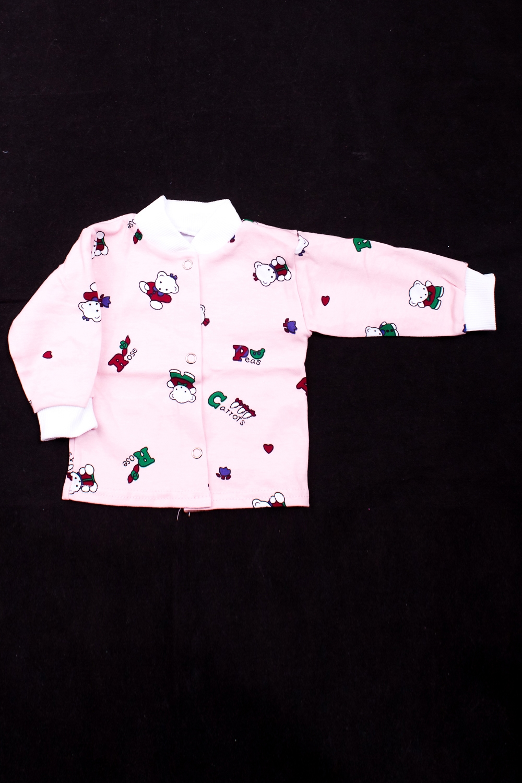 РубашкаКофточки<br>Трикотажная рубашка на кнопках  В изделии использованы цвета: розовый и др.  Размер соответствует росту ребенка<br><br>По сезону: Осень,Весна<br>Размер : 62,68,74<br>Материал: Трикотаж<br>Количество в наличии: 3