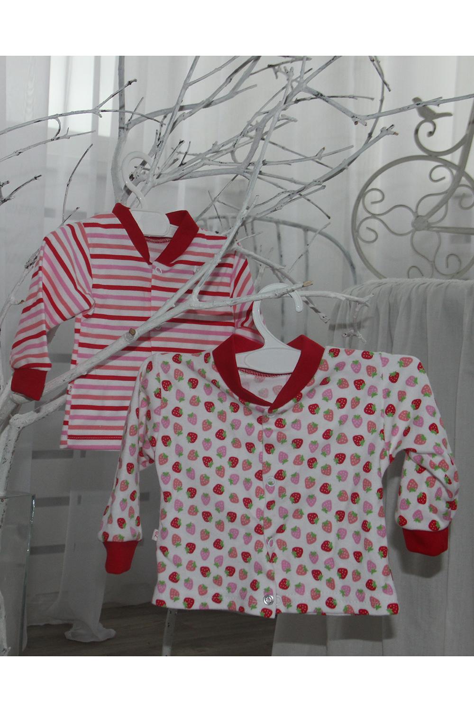 КофточкаКофточки<br>Комплект из двух кофточек(два цвета  в комплекте, одного размера) .Кофточка на кнопках для новорожденного.  В изделии использованы цвета: красный, розовый, белый и др.  Размер соответствует росту ребенка.<br><br>По сезону: Всесезон<br>Размер : 56,62<br>Материал: Трикотаж<br>Количество в наличии: 2