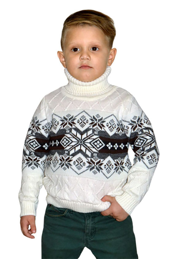 СвитерСвитеры<br>Вязаный свитер для мальчика.  В изделии использованы цвета: белый, серый, коричневый.  Размер 74 соответствует росту 70-73 см Размер 80 соответствует росту 74-80 см Размер 86 соответствует росту 81-86 см Размер 92 соответствует росту 87-92 см Размер 98 соответствует росту 93-98 см Размер 104 соответствует росту 98-104 см Размер 110 соответствует росту 105-110 см Размер 116 соответствует росту 111-116 см Размер 122 соответствует росту 117-122 см Размер 128 соответствует росту 123-128 см Размер 134 соответствует росту 129-134 см Размер 140 соответствует росту 135-140 см<br><br>Воротник: Стойка<br>По возрасту: Дошкольные ( от 3 до 7 лет),Школьные ( от 7 до 13 лет)<br>По материалу: Вязаные<br>По рисунку: С принтом (печатью),Цветные<br>По сезону: Весна,Осень,Зима<br>По силуэту: Полуприталенные<br>По стилю: Теплые<br>По элементам: Без капюшона<br>Рукав: Длинный рукав<br>Размер : 116,122,128,140<br>Материал: Вязаное полотно<br>Количество в наличии: 4