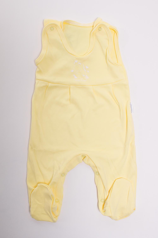 КомбинезонКомбинезончики<br>Хлопковый комбинезон для новорожденного  Цвет: желтый  Размер соответствует росту ребенка<br><br>Размер : 56,68,86<br>Материал: Трикотаж<br>Количество в наличии: 3