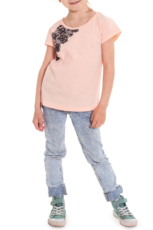 ФутболкаФутболки<br>Нежная хлопковая футболка для маленькой леди.  Цвет: розовый.  Размер 122 соответствует росту 117-122 см Размер 134 соответствует росту 129-134 см<br><br>Горловина: С- горловина<br>По длине: Удлиненные<br>По материалу: Трикотажные,Хлопковые<br>По образу: Пляж,Повседневные,Уличные<br>По рисунку: Растительные мотивы,Цветные,Цветочные<br>По сезону: Весна,Всесезон,Зима,Лето,Осень<br>По силуэту: Полуприталенные<br>По стилю: Романтические<br>По элементам: С декором<br>Рукав: Короткий рукав<br>По возрасту: Школьные ( от 7 до 13 лет),Дошкольные ( от 3 до 7 лет)<br>Размер : 122<br>Материал: Хлопок<br>Количество в наличии: 1