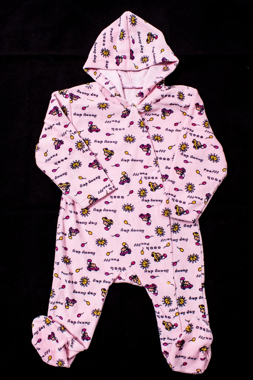 КомбинезонКомбинезоны<br>Велюровый комбинезон с капюшоном для ребенка  Цвет: розовый и др.  Размер соответствует росту ребенка<br><br>По возрасту: Ясельные ( от 1 до 3 лет)<br>По материалу: Хлопковые<br>По образу: Повседневные<br>По рисунку: С принтом (печатью),Цветные<br>По сезону: Зима,Осень,Весна<br>По силуэту: Полуприталенные<br>По стилю: Повседневные<br>Размер : 74<br>Материал: Велюр<br>Количество в наличии: 1