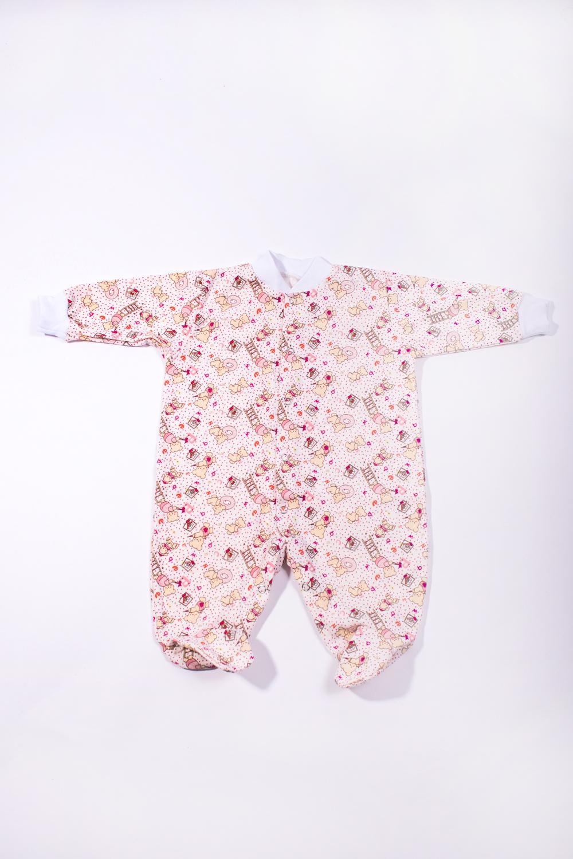 КомбинезонКомбинезончики<br>Трикотажный комбинезон для новорожденного  Цвет: белый, розовый и др.  Размер соответствует росту ребенка<br><br>По сезону: Всесезон<br>Размер : 56,68<br>Материал: Трикотаж<br>Количество в наличии: 2