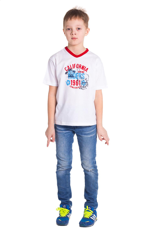 Футболка футболка для мальчика kogankids цвет красный 122 312 19 размер 128