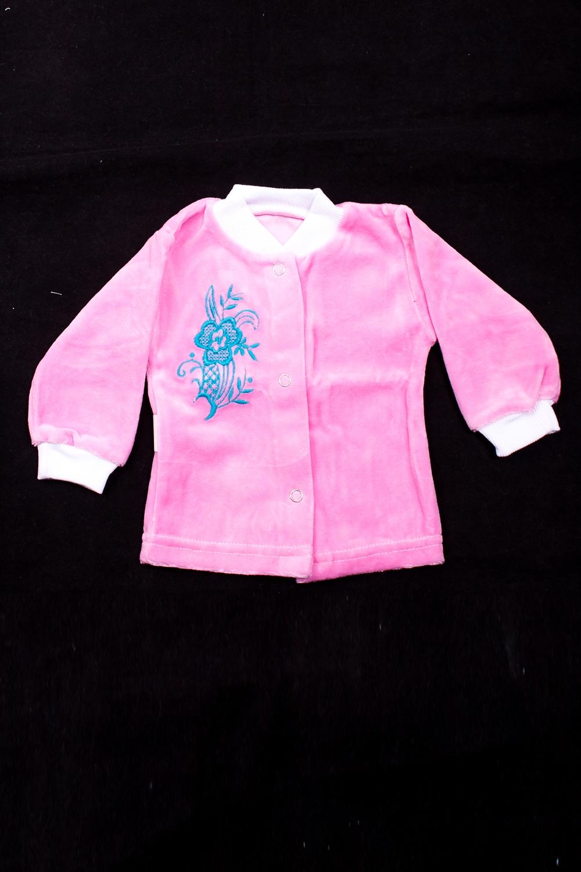 РубашкаКофточки<br>Хлопковая кофточка на кнопках  В изделии использованы цвета: розовый и др.  Размер соответствует росту ребенка<br><br>По сезону: Всесезон<br>Размер : 68<br>Материал: Велюр<br>Количество в наличии: 1