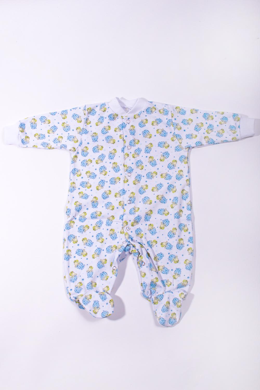 КомбинезонКомбинезончики<br>Трикотажный комбинезон для новорожденного  В изделии использованы цвета: белый, голубой, зеленый.  Размер соответствует росту ребенка<br><br>По сезону: Всесезон<br>Размер : 56<br>Материал: Трикотаж<br>Количество в наличии: 1