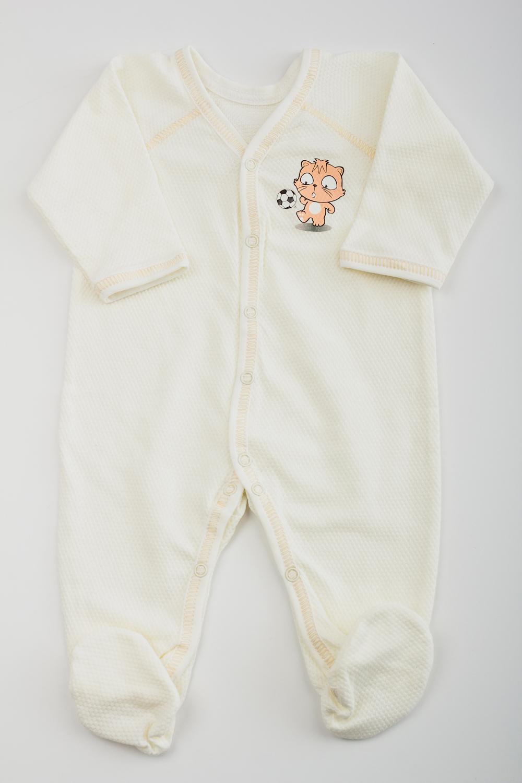 Комбинезон комбинезон утепленный для новорожденного boom вариант 2 цвет молочный 90011 bom размер 68 6 месяцев