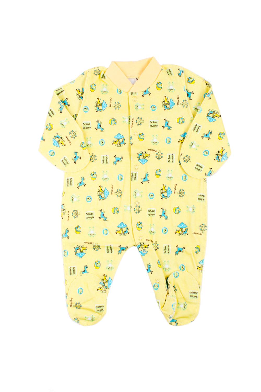 КомбинезонКомбинезончики<br>Хлопковый комбинезон для новорожденного.  В изделии использованы цвета: желтый и др.  Размер соответствует росту ребенка.<br><br>По сезону: Всесезон<br>Размер : 56<br>Материал: Хлопок<br>Количество в наличии: 1