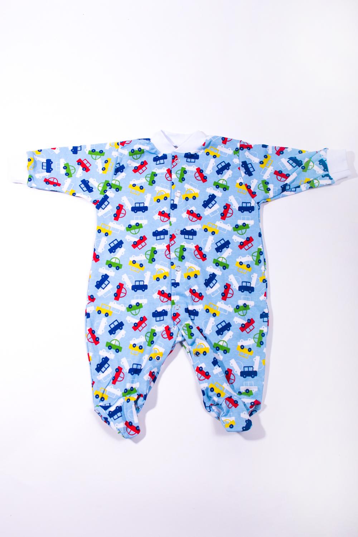 КомбинезонКомбинезончики<br>Трикотажный комбинезон для новорожденного  В изделии использованы цвета: голубой и др.  Размер соответствует росту ребенка<br><br>По сезону: Всесезон<br>Размер : 56<br>Материал: Трикотаж<br>Количество в наличии: 1