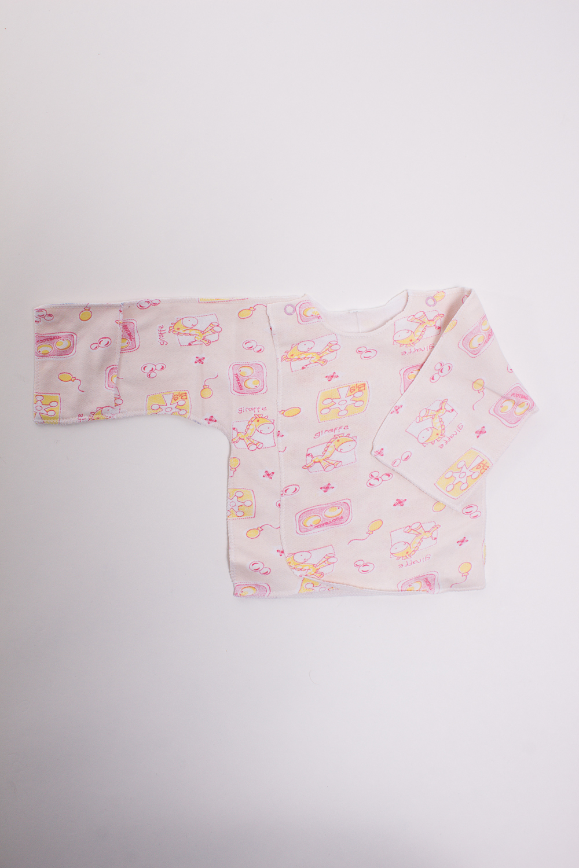РаспашонкаРаспашонки<br>Хлопковая кофточка для новорожденного  Цвет: розовый, мультицвет  Размер соответствует росту ребенка<br><br>По материалу: Трикотажные,Хлопковые<br>По рисунку: Цветные,С принтом (печатью)<br>По сезону: Всесезон<br>По силуэту: Полуприталенные<br>По длине: Удлиненные<br>Воротник: Стойка<br>Рукав: Длинный рукав<br>По возрасту: Ясельные (от 1 до 3 лет)<br>Размер: 62<br>Материал: 100% хлопок<br>Количество в наличии: 1