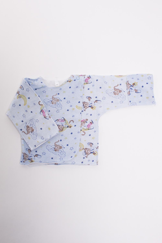РаспашонкаРаспашонки<br>Хлопковая кофточка для новорожденного  Цвет: голубой, мультицвет  Размер соответствует росту ребенка<br><br>По материалу: Трикотажные,Хлопковые<br>По рисунку: Цветные,С принтом (печатью)<br>По сезону: Всесезон<br>По силуэту: Полуприталенные<br>По длине: Удлиненные<br>Воротник: Стойка<br>Рукав: Длинный рукав<br>По возрасту: Ясельные (от 1 до 3 лет)<br>Размер: 50,56,62<br>Материал: 100% хлопок<br>Количество в наличии: 3