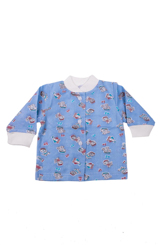 КофтаКофточки<br>Хлопковая кофточка для новорожденногоВ изделии использованы цвета: голубой и др.Размер соответствует росту ребенка<br><br>Сезон: Всесезон<br>Размер : 56<br>Материал: Хлопок<br>Количество в наличии: 1