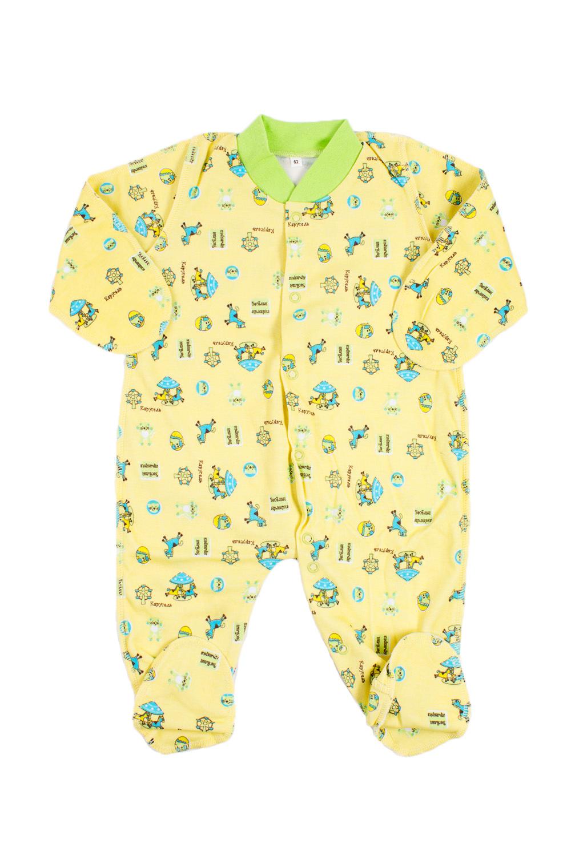 КомбинезонКомбинезончики<br>Хлопковый комбинезон для новорожденного.  В изделии использованы цвета: желтый и др.  Размер соответствует росту ребенка.<br><br>По сезону: Всесезон<br>Размер : 62<br>Материал: Хлопок<br>Количество в наличии: 1