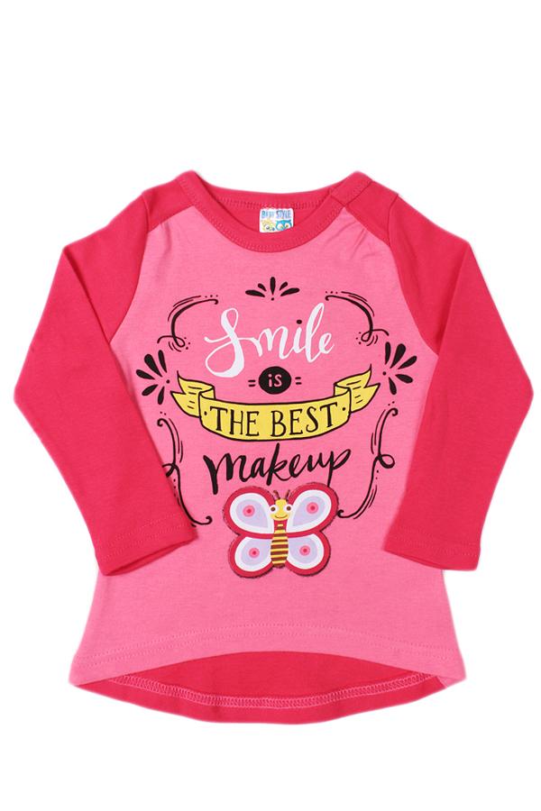Лонгслив лонгслив для девочки batik цвет розовый ds0143 4 размер 116