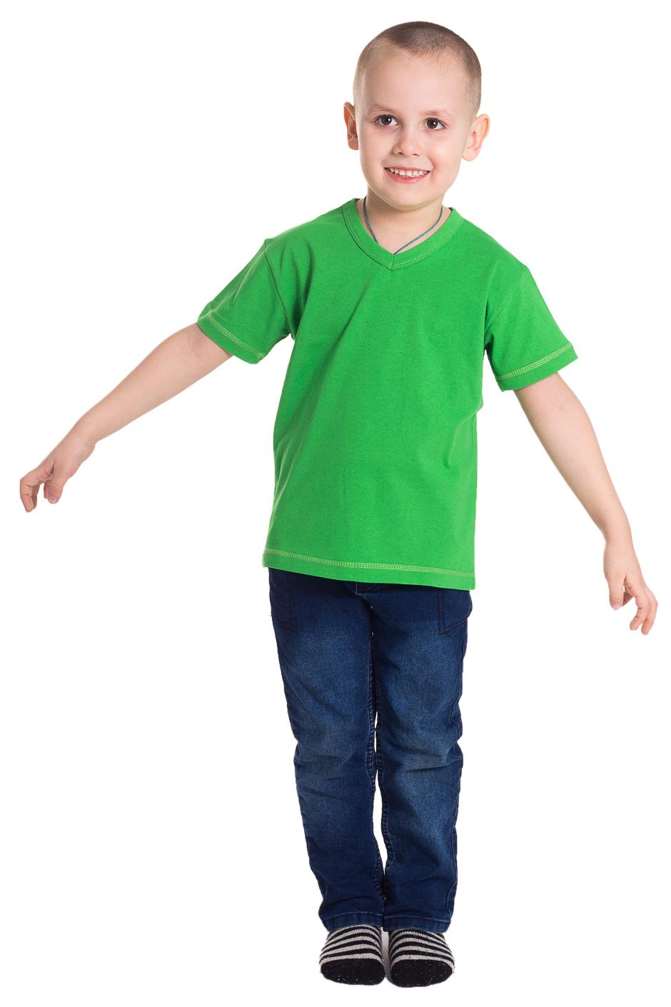 ФутболкаФутболки<br>Хлопковая футболка для мальчика  Цвет: зеленый  Размер 74 соответствует росту 70-73 см Размер 80 соответствует росту 74-80 см Размер 86 соответствует росту 81-86 см Размер 92 соответствует росту 87-92 см Размер 98 соответствует росту 93-98 см Размер 104 соответствует росту 98-104 см Размер 110 соответствует росту 105-110 см Размер 116 соответствует росту 111-116 см Размер 122 соответствует росту 117-122 см Размер 128 соответствует росту 123-128 см Размер 134 соответствует росту 129-134 см Размер 140 соответствует росту 135-140 см Размер 146 соответствует росту 141-146 см Размер 152 соответствует росту 147-152 см Размер 158 соответствует росту 153-158 см Размер 164 соответствует росту 159-164 см<br><br>Горловина: V- горловина<br>По возрасту: Дошкольные ( от 3 до 7 лет),Школьные ( от 7 до 13 лет)<br>По материалу: Хлопковые<br>По образу: Повседневные,Спорт,Уличные<br>По рисунку: Однотонные<br>По сезону: Весна,Зима,Лето,Осень,Всесезон<br>По силуэту: Полуприталенные<br>Рукав: Короткий рукав<br>Размер : 110,122<br>Материал: Хлопок<br>Количество в наличии: 5