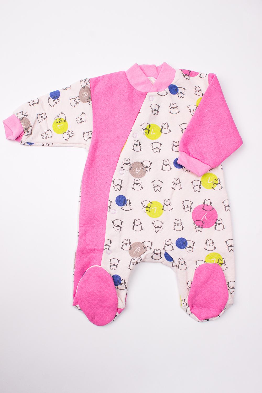 КомбинезонКомбинезончики<br>Хлопковый комбинезон для новорожденного  В изделии использованы цвета: розовый, белый и др.  Размер соответствует росту ребенка<br><br>По сезону: Всесезон<br>Размер : 62<br>Материал: Трикотаж<br>Количество в наличии: 1