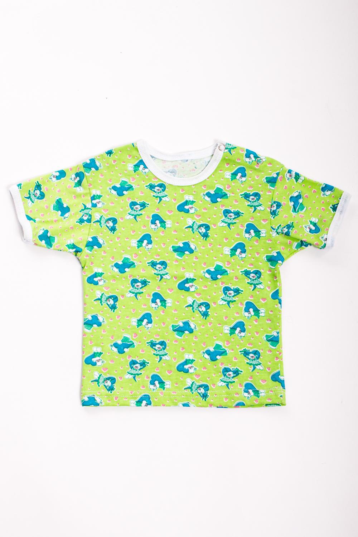 ФутболкаФутболки<br>Хлопковая футболка для ребенка  Цвет: салатовый, мультицвет  Размер соответствует росту ребенка<br><br>Размер : 74<br>Материал: Хлопок<br>Количество в наличии: 1