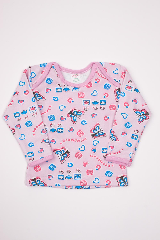 КофточкаКофточки<br>Хлопковая кофточка для новорожденного  Цвет: розовый, мультицвет  Размер соответствует росту ребенка<br><br>Размер : 62,68<br>Материал: Трикотаж<br>Количество в наличии: 11