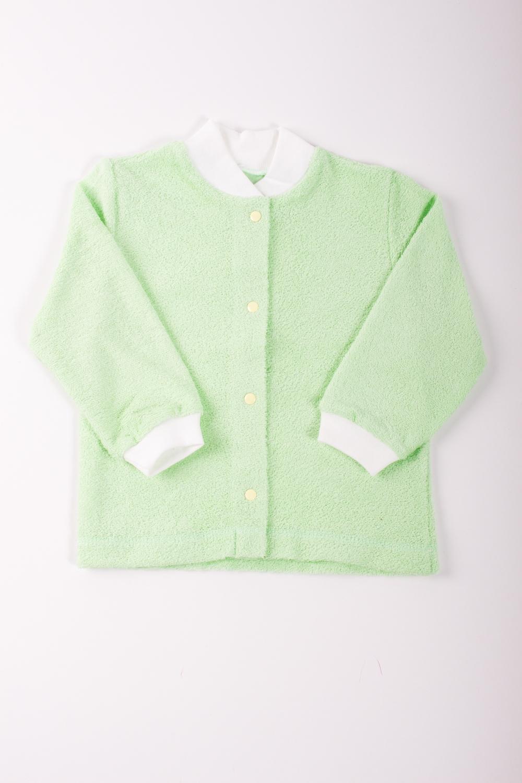 КофточкаКофточки<br>Хлопковая кофточка для новорожденного.  Цвет: зеленый, белый  Размер соответствует росту ребенка<br><br>Размер : 62,68,80,92<br>Материал: Махровое полотно<br>Количество в наличии: 12
