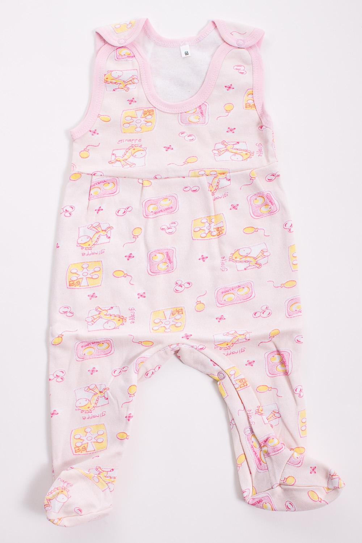 КомбинезонКомбинезончики<br>Хлопковый комбинезон для новорожденного  Цвет: розовый, мультицвет  Размер соответствует росту ребенка<br><br>Размер : 56,68<br>Материал: Трикотаж<br>Количество в наличии: 2
